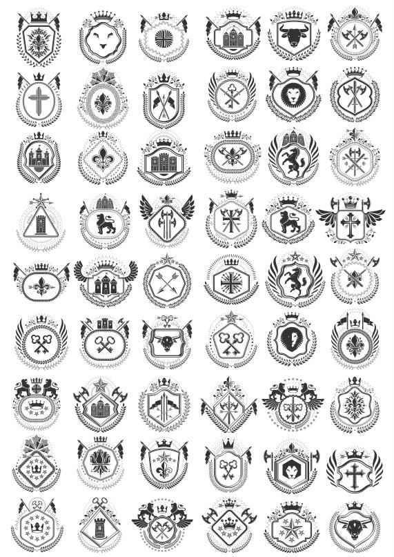 New heraldic logo, heraldic vector, heraldic shield