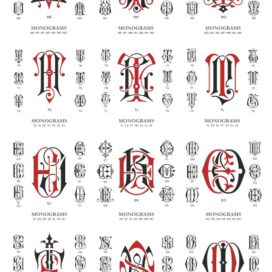 Vector Monogram: Monograms # 04 vector free download!