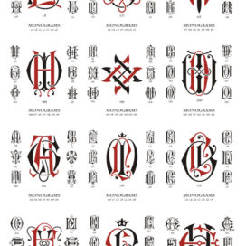 Monogram free: vector monogram large collection # 05 download.