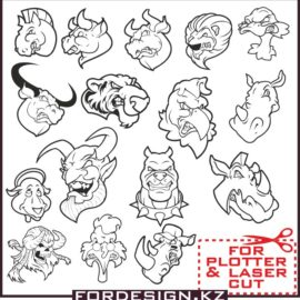 Angry animals vector download free.