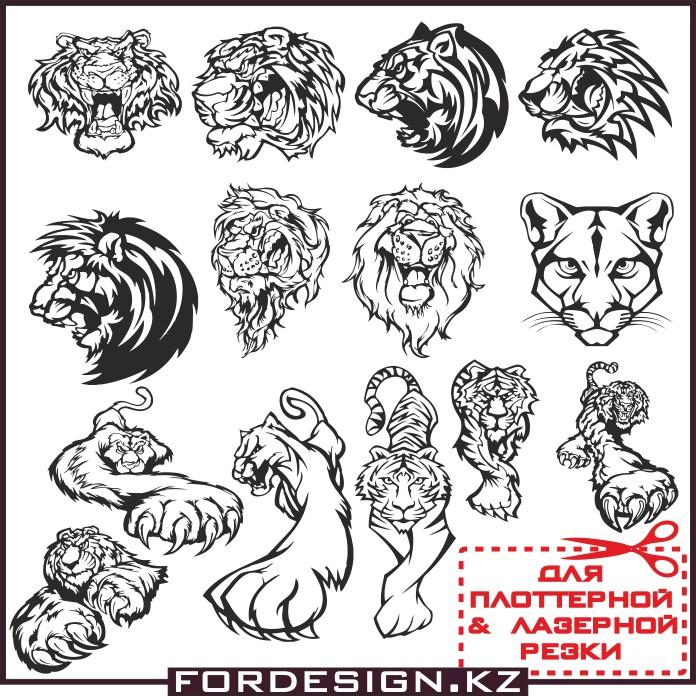тигр вектор, морда тигра вектор, макет тату голова тигра, лев вектор, голова льва в векторе