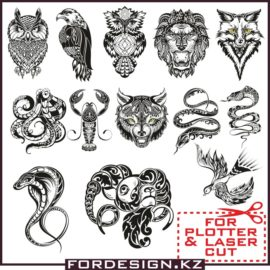 Vector animals patterns: Beautiful animal designs for plotter cutting download.