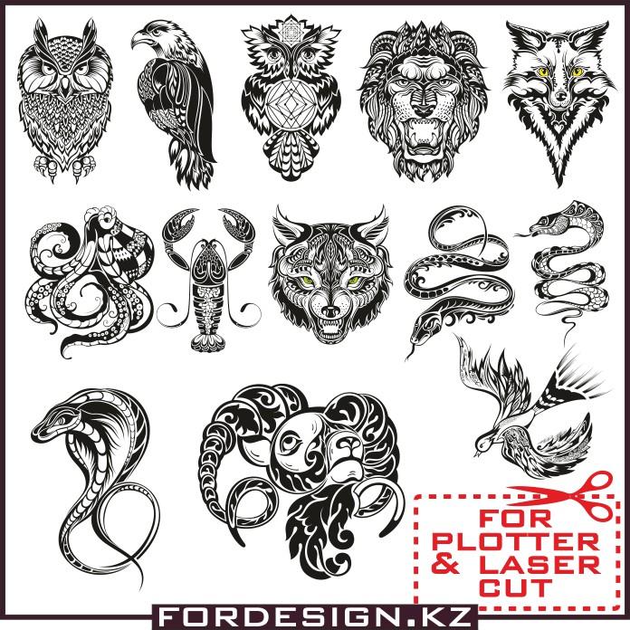Vector animals, Vector animals patterns, animals vector, animals tatoo,