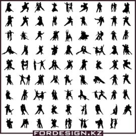 Dance Silhouettes Vector: Silhouettes of Ballroom Dancing Free Download!
