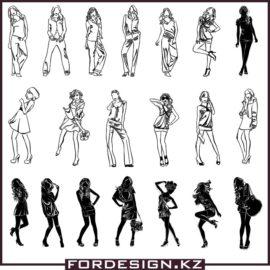 Девушки вектор скачать: Коллекция векторных женщин.