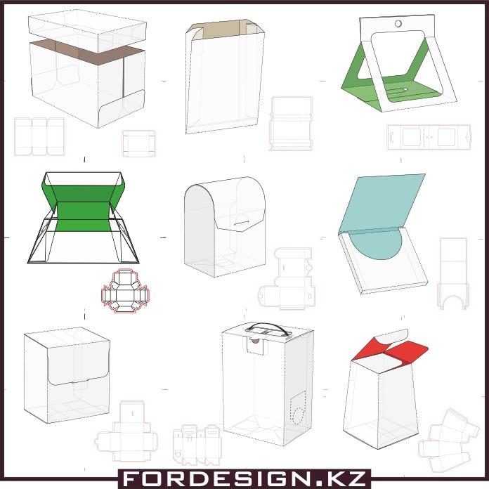 Mockup box, box models, model of the box, template box