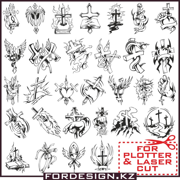 Vector cross, cross tattoo, cross vector