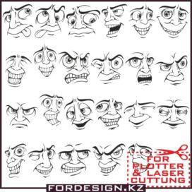 Face Vector Mens Part 1: Vector Smileys download free!
