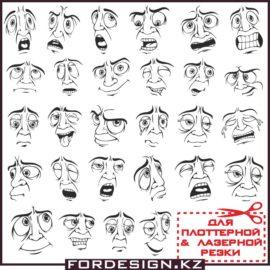 Смайлы вектор: Мужское лицо мимика часть 2 скачать бесплатно!