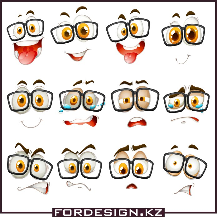 Emoji vector, smiles vector, smiley