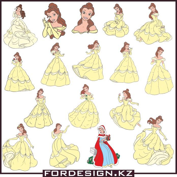 бэль, бэль вектор, принцесса вектор, принцесса картинки скачать