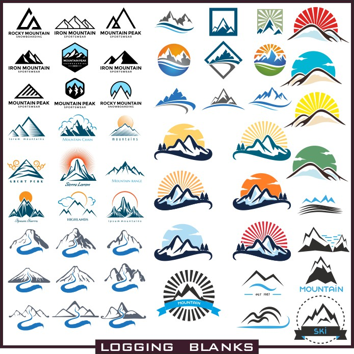 Thumbnail logo, logo vector, mountain vector, for plotter