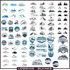 Logos vector mountains download free