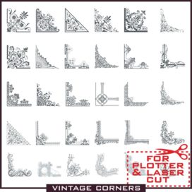 Corners vector: Vintage corners in a vector free download.