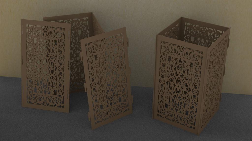Коробочки для лазерной резки, макеты для лазерной резки, коробочка вектор