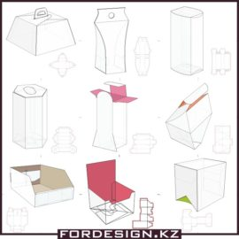 Mockups of boxes vector sketches free download