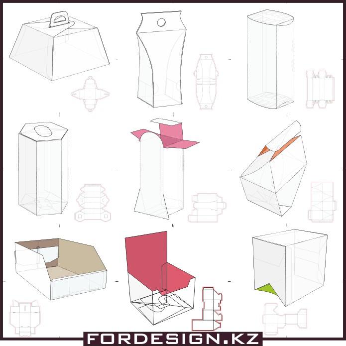макеты коробок, эскизы коробок, коробки в векторе, скачать шаблоны коробок