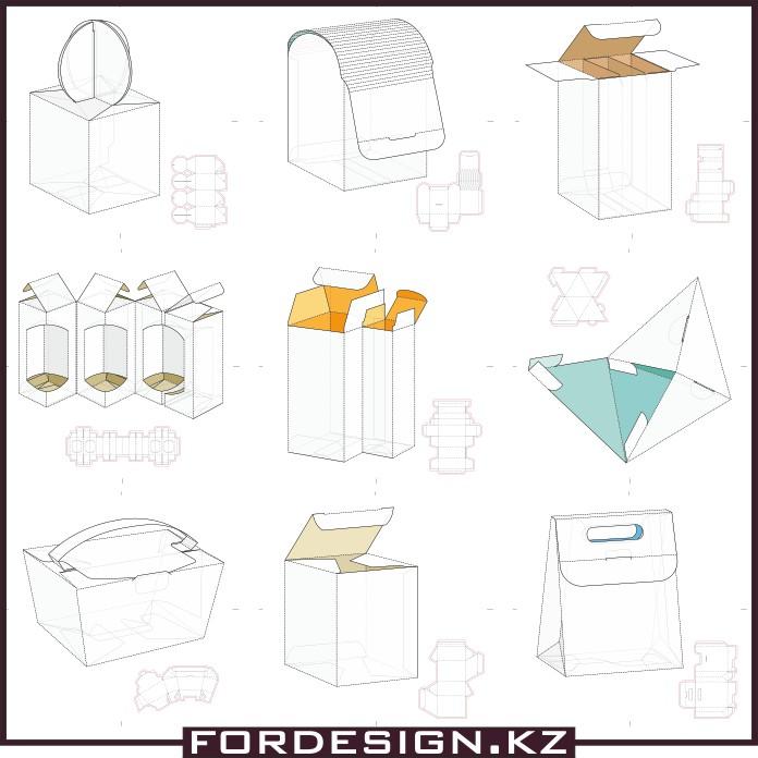Cardboard box layouts