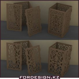 Boxes for laser cutting – candlestick download