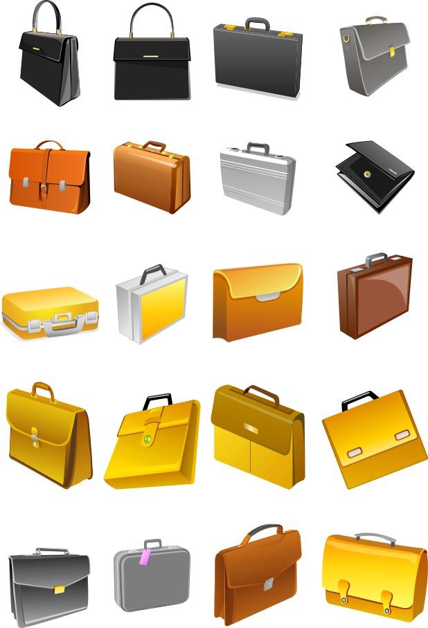 Briefcase vector, Bag vector, free download, vector images