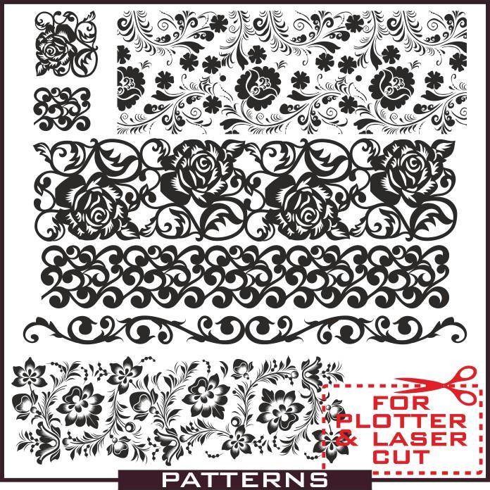 Patterns in vector, vector patterns, patterns download, patterns for sandblasting, patterns for walls