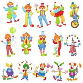 Веселые клоуны: детский клипарт.