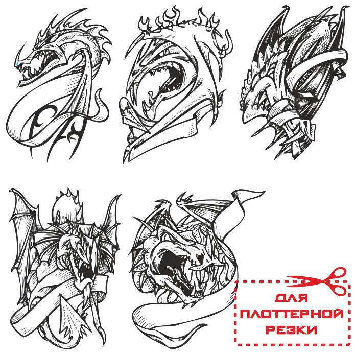векторные рисунки драконов, дракон вектор, векторный дракон, скачать бесплатно, векторные изображения, дракон тату