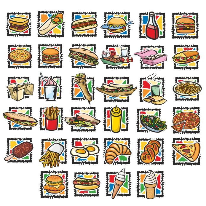 фаст фуд иконки, иконки вектор, векторные иконки, скачать бесплатно, векторные изображения, иконки еда