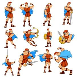 "The main character from the cartoon ""Hercules"""