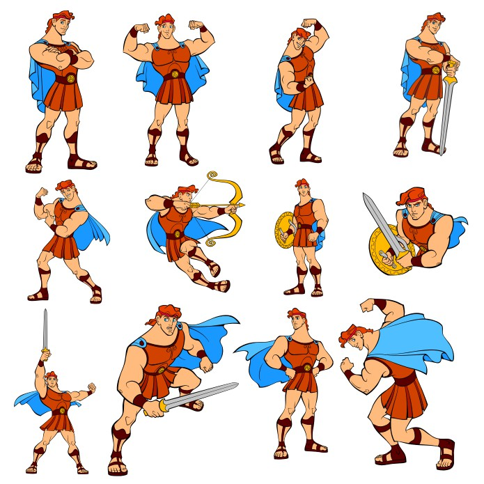 Hercules clipart, Hercules Vector, Hercules from cartoon, free download, vector images