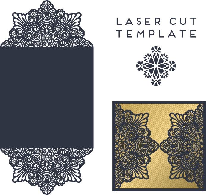 Envelope design template, template envelope for laser