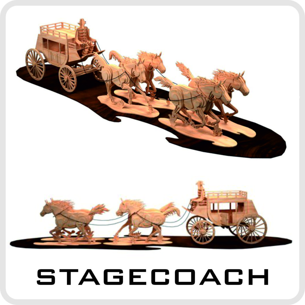 dxf files for laser cutting, laser cutting model, stagecoach layout, free download, vector layouts