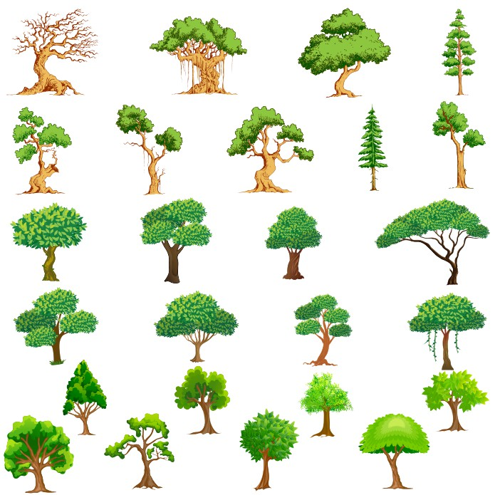 Tree vector, trees vector download, vector trees, free vector download, free vector tree