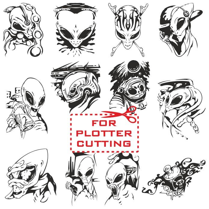 Aliens vector, vector ufo, alien images, free download, vector images, vector alien