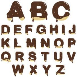 Вкусный и сладкий английский алфавит