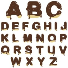 Delicious and sweet English alphabet