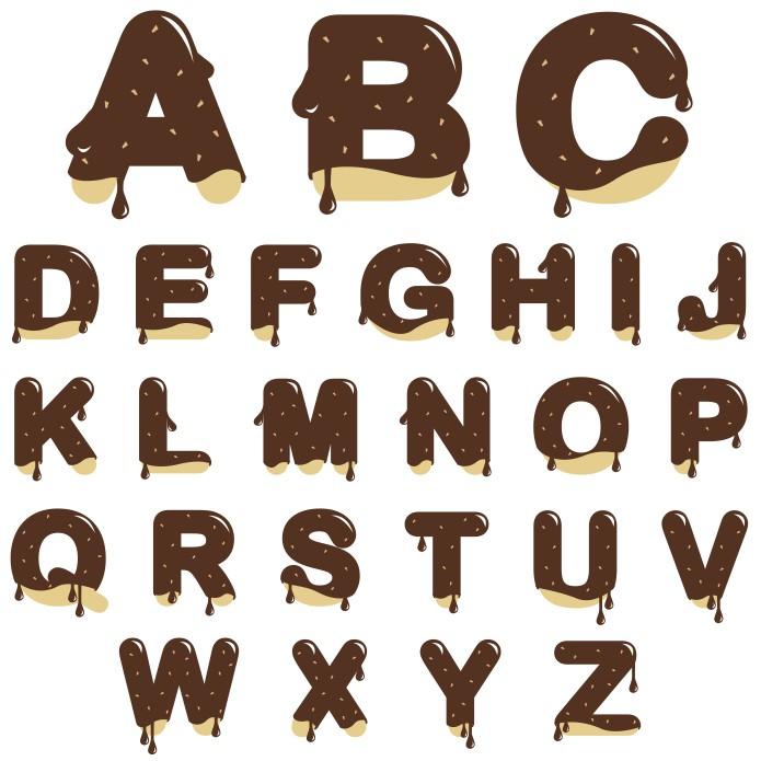 вкусный алфавит, алфавит вектор