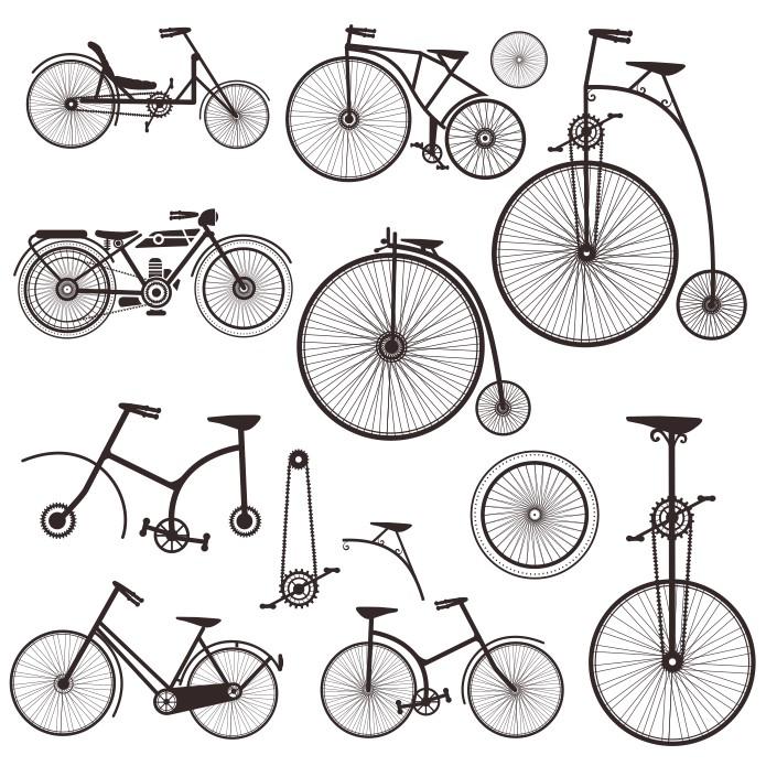велосипед вектор, силуэт велосипеда