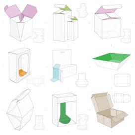 Векторные макеты коробочек сборник №10