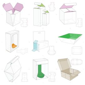 Vector layouts of boxes collection #10