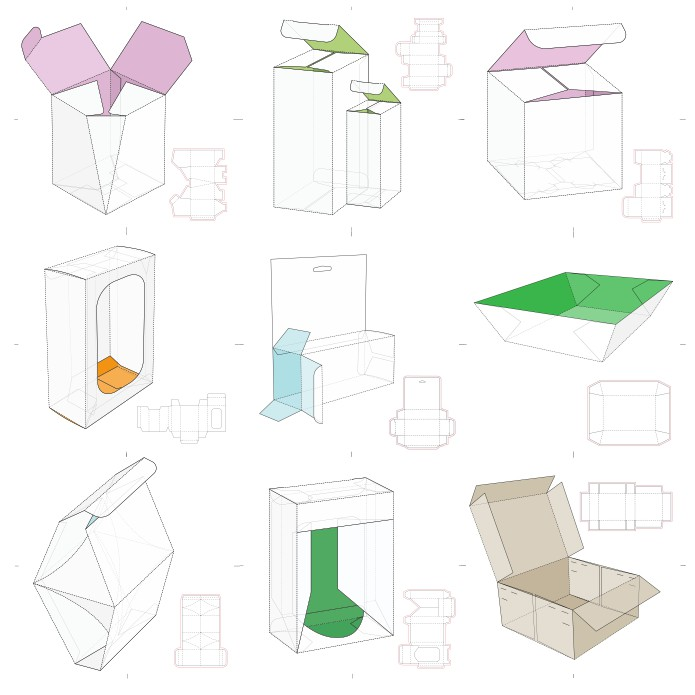 Packaging template, free box templates