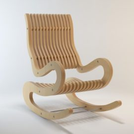Drawing for CNC machine tools – Armchair rocking chair from plywood