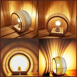 Векторный макет настольной лампы — «Сфера»