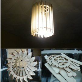 "Chandelier for laser cutting plywood – ""Cylinder"""