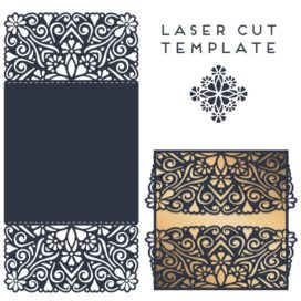 Vector template of the envelope, postcard #010