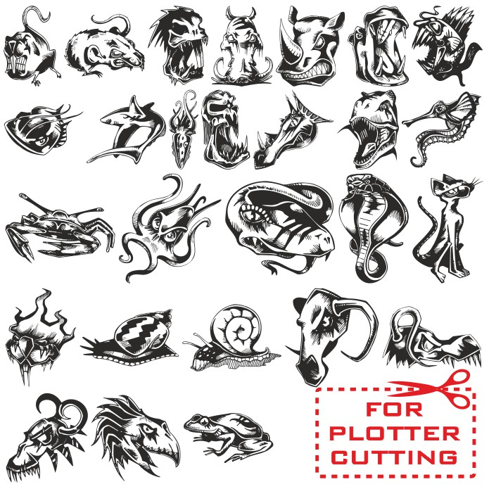 Angry Animal Tattoos Sketches free download