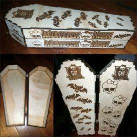 Векторный макет гроба для Вампирессы Монстер Хай