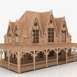 "The model of the doll house – ""Villa"""
