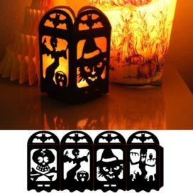 Макет подсвечника на Хеллоуин
