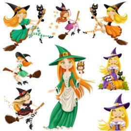 Красивые ведьмочки для Хэллоуина